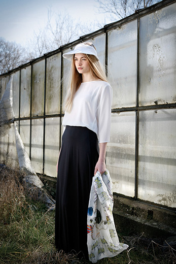 Lost Places, 28 Grad und sonnig - Fashion-Shooting im Glashaus